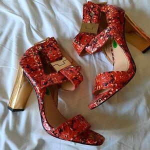 Rachel Zoe 8 M Red/Gold $280